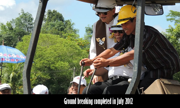 Ground breaking ceremony to mark the beginning of construction