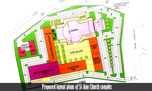 Layout plan of St Ann Complex