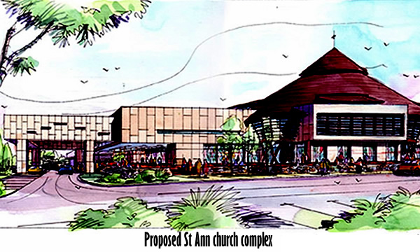 Artist impression of the proposed St Ann church complex